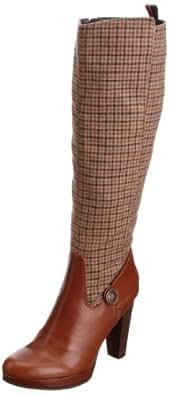 Tommy Hilfiger Women's Megan 10 B Veronica Check/Cognac Platforms Heels FW56814788 7 UK, 41 EU