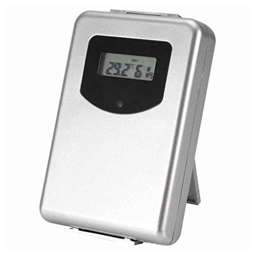 Preisvergleich Produktbild Junecat 433MHz Funk-Wetterstation mit Vorhersage-Temperatur-Digital-Thermometer-Hygrometer-Feuchtigkeits-Sensor