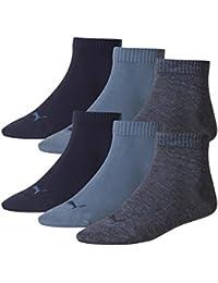 PUMA Unisex Quarter Quarters Socken 6er Pack, Größe:39-42;Farbe:denim blue (460)