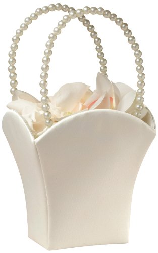 lillian-rose-fb400-i-plain-satin-flower-basket-ivory