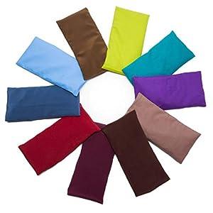 #DoYourYoga Baumwoll-Augenkissen »Khan« mit Leinsamen/Lavendel Füllung – biologisch angebaute Baumwolle, angenehm weich / 20 x 9 cm/in wunderschönen Farben erhältlich