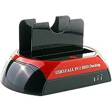 FUHAOXUAN CXD-875U3-ES USB 3.0 a SATA IDE Dual Bahía Externo Estación de Acoplamiento Del Disco Duro para 2.5 3.5 Pulgadas IDE SATA I / II / III HDD SSD
