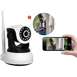 Wifi Kamera Tür - Sicherheitskamera , Dome Kamera Indoor Wlan PTZ / IP Cam Full Hd Ueberwachungskamera Mit Monitor - Echtzeit-Video-Video-Wiedergabe & P2P WIFI IP-Kamera