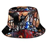 UOSIQZDF One Size Fascinator Hut Fisherman's Hat Black Mode Korn Human Behavior Strandhut