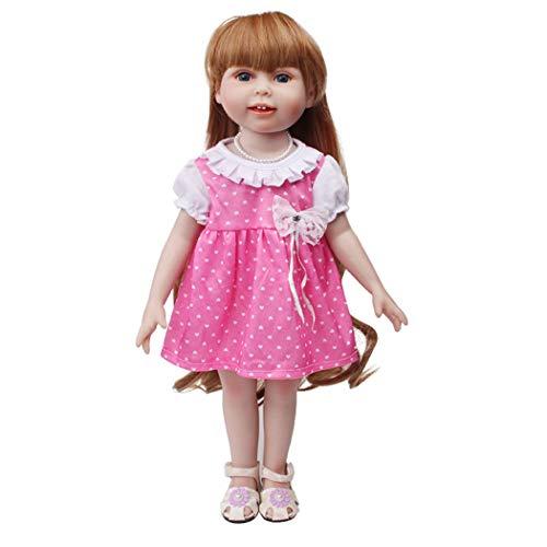 Zolimx Mode Puppenkleid für 18-Zoll-Amerikanische Puppe Baby Mädchen Puppen Zubehör Spielt Puppenkleidung Sommerkleidung