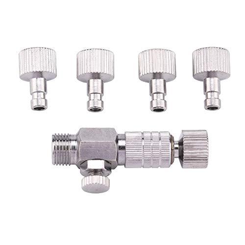 Garosa Metall Airbrush Koppler Professionelle Leichte Airbrush Schnellkupplung Kupplung Trennkupplung mit 4 stücke Armaturen