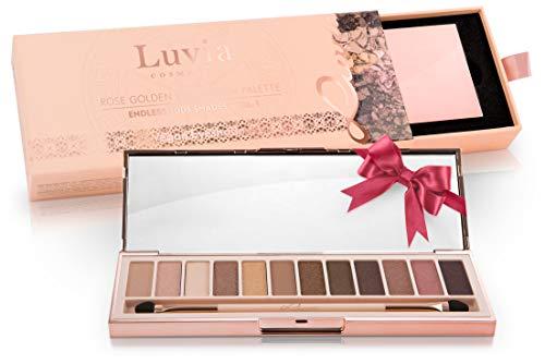 Luvia Cosmetics - Palette di Ombretti Rosati 'Rose Golden - Endless Nude' Palette di 12 Colori Professionali, Matte e Glitter - Kit di Make-up Trucco Professionale, Vegano/Non testato su animali