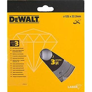 Dewalt DT3761-XJ Disco de diamante de alto rendimiento para el corte de materiales de duros/granitos 125 x 22.2 mm