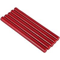 Fdit 5 Varillas de Cera de Sellado Multicolor con cordón de Mecha para envío Letra Retro, Sello de Cera Vintage (Color: Rojo)