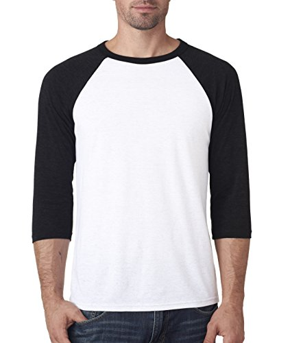 Delifhted Adult 3/4 Sleeve Blended Baseball Tee (Sleeve 3/4 Baseball Herren Tee)
