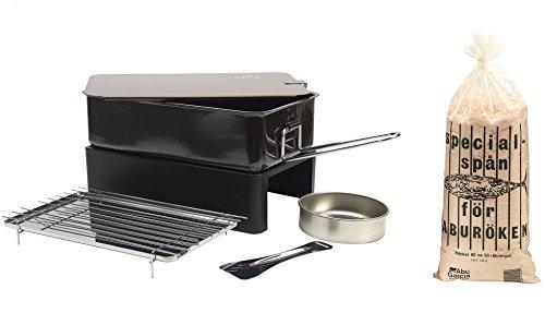 Abu Garcia Räucher Set Räucherofen + Räuchermehl 450g Tischräucherofen mit Räucher Mehl Mehl zum Räuchern