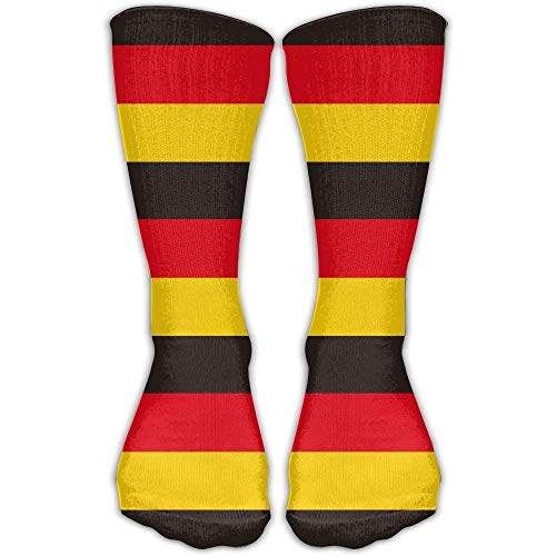 Germany Flag Sock Classic Fancy Design Multi Colorful Crew Knee High Socks Running Soccer Stockings 30cm