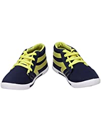 Scantia Stylish & Comfortable Casual Lace-Up Shoes For Men ( Colour : Blue::Yellow )_ (Aluminium Foil With 50...
