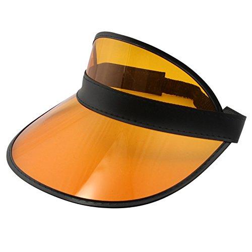 Freak Scene Visor Cap ° Retro Schildkappe ° 80s Poker Schildmütze orange-schwarz