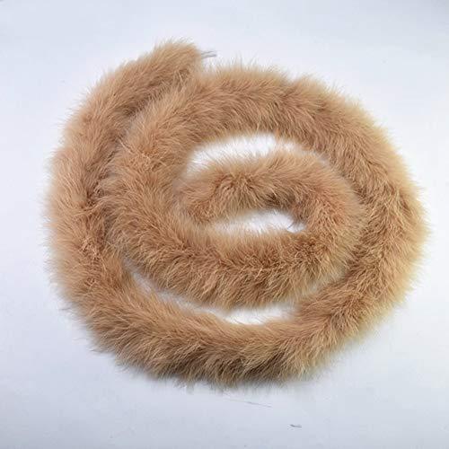 Boas Feather Kostüm - SHFives 2Meter / Lot Fluffy Turkey Feathers Boa ca. 50g Marabou Black White Feather für Crafts Boas Strip Karneval Kostüm Plumes Plumas, Khaki