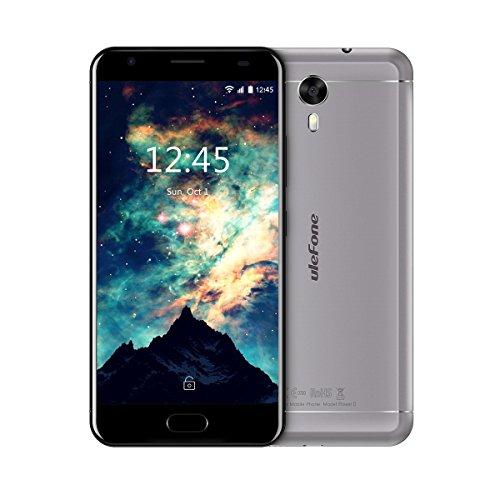 Ulefone Power 2 - Smartphone Libre 4G, 5.5' FHD 1920 * 1080, Cuerpo Metálico, Android 7.0, 64GB ROM+4GB RAM, MT6750T Octa-Core, Cámara de 13MP/8MP, Batería 6050mAh,9V/2A Carga Rápido, Dual SIM (Gris)