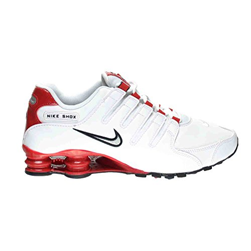 Nike Shox NZ Men's Shoes White/Metallic Silver-University Red 378341-110 (10.5 D(M) US)