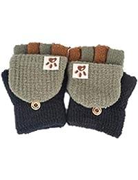 Fingerhandschuh Herbst und Winter Kleinkind Baby Warme Handschuhe Fünf Finger Fäustlinge verdicken Patchwork Unisex Mädchen Jungen Fahrradhandschuhe Winterhandschuhe 2-6 Jahre alt