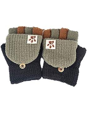 Fingerhandschuh Herbst und Winter Kleinkind Baby Warme Handschuhe Fünf Finger Fäustlinge verdicken Patchwork Unisex...