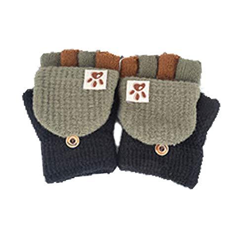 Fingerhandschuh Herbst und Winter Kleinkind Baby Warme Handschuhe Fünf Finger Fäustlinge verdicken Patchwork Unisex Mädchen Jungen Fahrradhandschuhe Winterhandschuhe 2-6 Jahre alt (C)