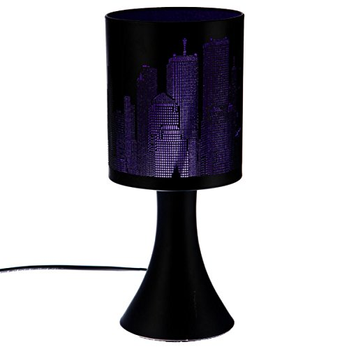 Lampe tactile New york Violette / Noire 3 intensités