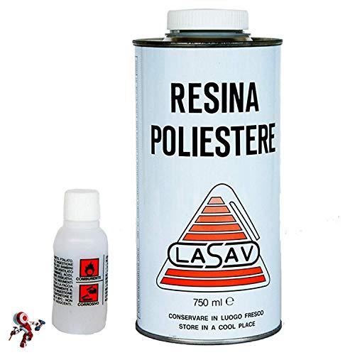 Resina poliestere liquida 750ml + catalizzatore