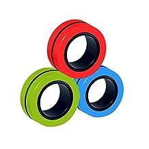 Sweetlibra 3 PC Anti-Stress Magnetische Ringen, Magnetische Armbandring Unzip Toy Magic Ring Props Gereedschap Decompressie Speelgoed