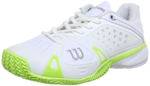 Wilson Rush ProWRS316800E075, Damen Tennisschuhe, Weiß (white), EU 41 1/3 (UK 7.5) (US 9.5)