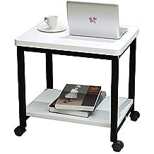 Amazonfr Table Roulante Pliante Blanc