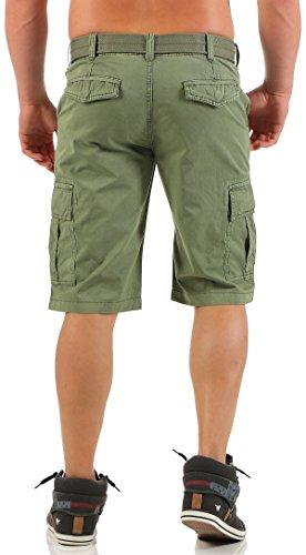 ... malito Herren Bermuda Shorts in unterschiedlichen Ausführungen   kurze  Funktionshose   ¾ Cargo Hose - Freizeithose 268904fc5b