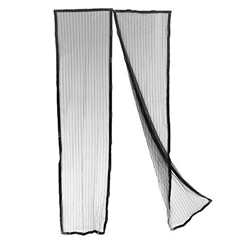 Zanzariera magnetica nera tenda 240x140 cm per porte finestre anti zanzare mosche