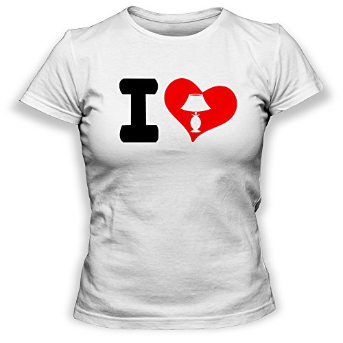 Paranoid Penguin I Love Lamp Womens Ladies T-Shirt Top - Gift For Wife - Gift For Girlfriend - Funny Movie T-Shirt Blanc