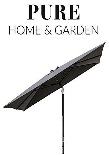 Pure Home & Garden Kurbelschirm 300x300 anthrazit, mit UV-Schutz 40 Plus, Knicker und abnehmbarem...