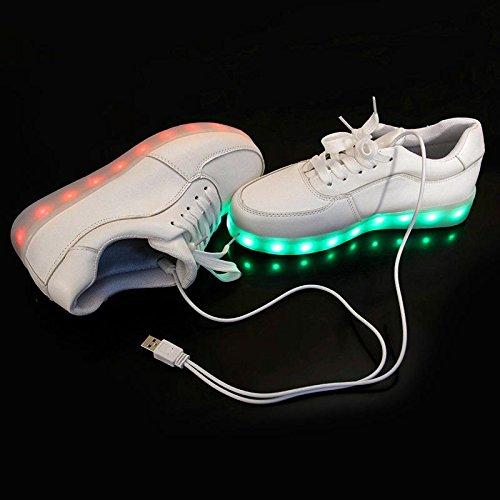 Sneakers Scarpe Bakaji Numero Luci 39 7xwhocq Led Con Multicolor Flc3TK1J