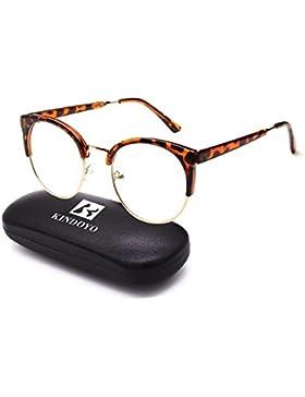 KINDOYO Ojo de gato Clásico Vintage lente Transparente gafas de sol Gafas de Moda para Mujeres y Hombres