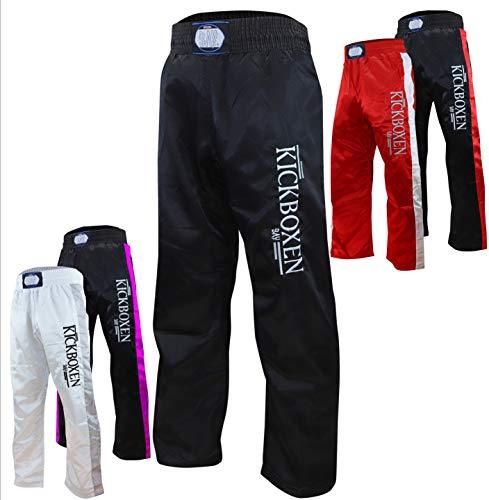 BAY® Stick Kickboxhose Satin in 5 Farben für Kinder und Erwachsene, 110-210 Körpergröße