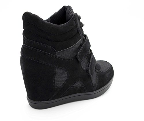 Oui Fashion Damen High-Top Schwarz