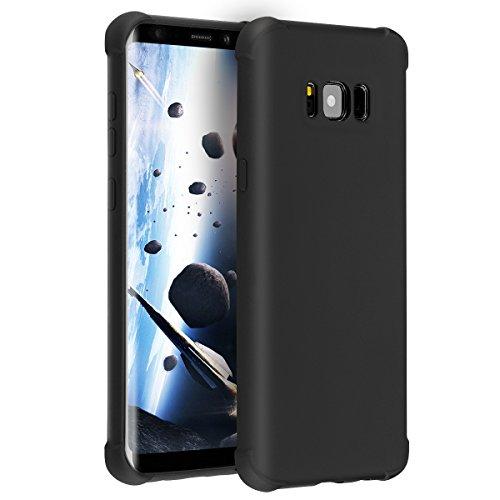 Hülle für Samsung Galaxy S8 Plus, Soft Flexibel Silikon Case Cover, Anti-Kratzer Handyhülle Abdeckung, Schallloch Technologie Handyhülle Schutz vor Schmutz, Schutzhülle für Samsung Galaxy S8 PLUS (Schwarz)