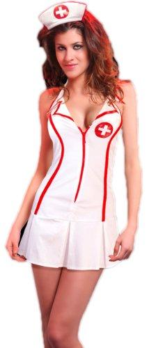 R-Dessous Krankenschwester Lack Kostüm Nurse Schwester Groesse: XXL