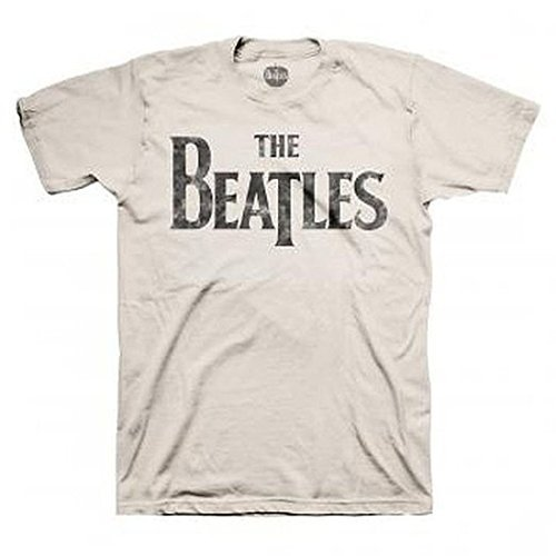 The Beatles Distressed Logo Sand T-Shirt