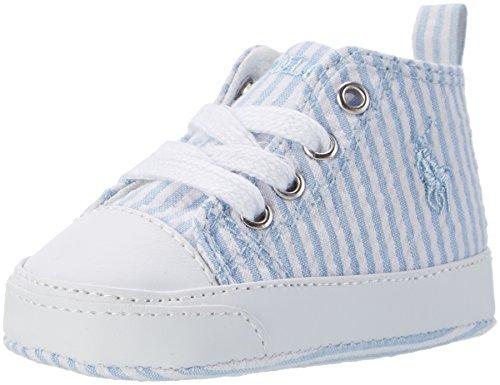 Ralph Lauren Baby Jungen Harbour Hi Layette Krabbelschuhe Blau (Blue Searsucker)