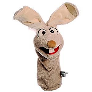 Living Puppets W446 Mampfred - Conejo de Peluche con Salchicha, Color marrón