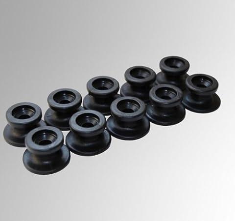 Rundknöpfe 10 St.passend für Seilstärke Ø 6-8 mm