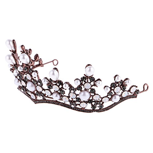 MagiDeal Mädchen Blume Perlen Stirnband Kopfstück Haarschmuck Kostüm - Bunte