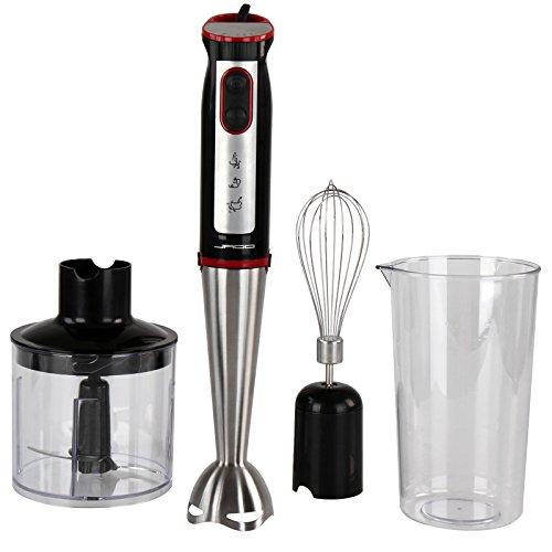 Jago Standmixer Stabmixer 3in1 elektrischer Mixer mit Schneebesen und Messbecher 500–700 W - 700 ml - 5 Stufen