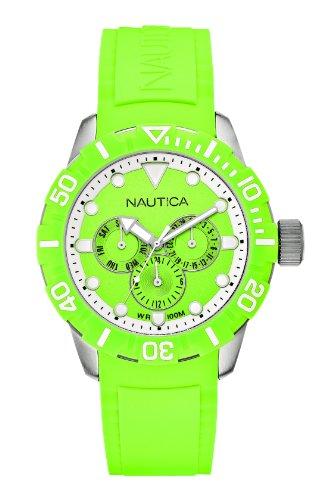 Nautica A13640G - Orologio da polso Unisex, caucciú, colore: Verde