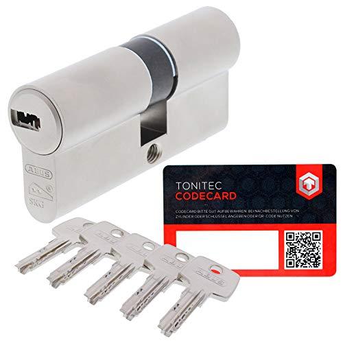 ABUS ProfilZylinder Zylinder TürZylinder EC550 EC 550 VS verschiedenschließend inkl. 5 Schlüssel inkl. ToniTec CodeCard Größe 30/30mm