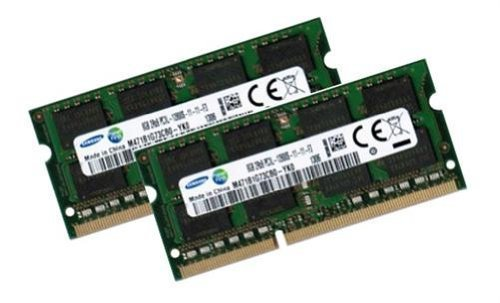 Samsung 16GB Dual Channel Kit 2 x 8 GB 204 pin DDR3L 1600 SO-DIMM (1600Mhz, PC3L-12800S, CL11, 1.35V/Low Voltage) - Apple ID 0x80CE (Sodimm Dual Channel)