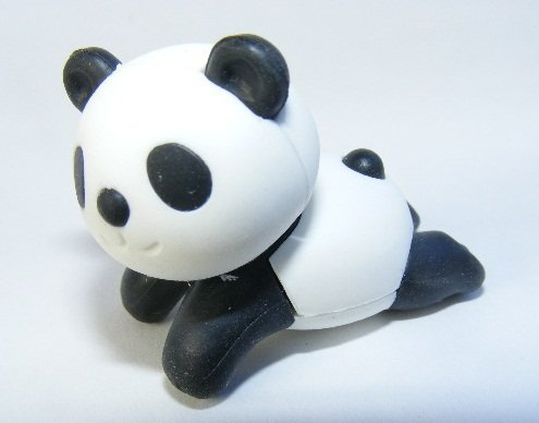 Iwako schwarz coole Chillout Panda japanischer Radiergummi