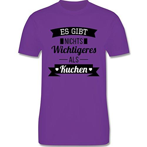 Statement Shirts - Es gibt nichts Wichtigeres als Kuchen - Herren Premium T-Shirt Lila